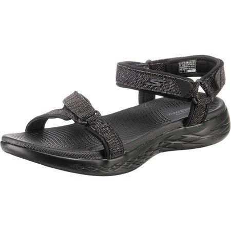 SKECHERS ON THE GO 600 RADIANT Komfort Sandalen schwarz Damen