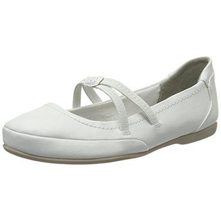 Marco Tozzi Damen 24224 Mary Jane Halbschuhe, Weiß (White 100), 39 EU