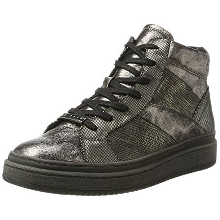 Tamaris Damen 25224 Hohe Sneaker, Silber (Platantcomb), 36 EU