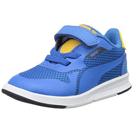 Puma Unisex Kinder Smash V2 SD V PS Sneaker, Blau (Peacoat
