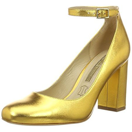Buffalo London Damen ZS 6454 16 Metallic Pumps, Gold (Gold 87), 40 EU