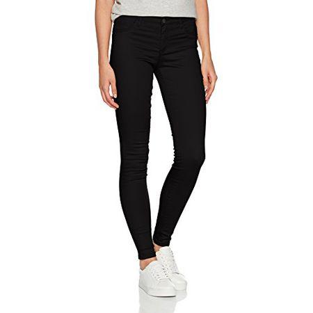 5d207d16da05 ONLY Damen Skinny Jeans 15129693, Schwarz (Black Denim), 36 L34 (