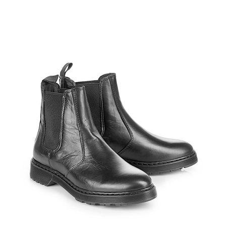 fbb4a23f0bc0b5 Buffalo Chelsea-Boots in schwarz aus Leder