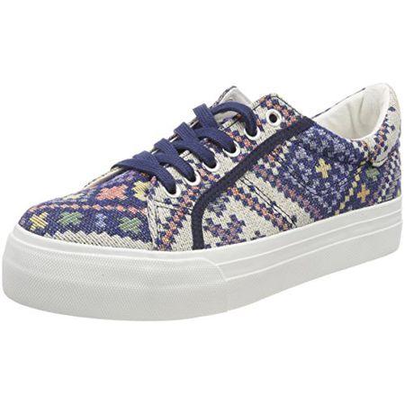 Tamaris Damen 23602 Sneaker, Blau (Blue Ethno), 39 EU