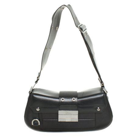 21829443c552d Christian Dior Handtasche aus Leder in Schwarz