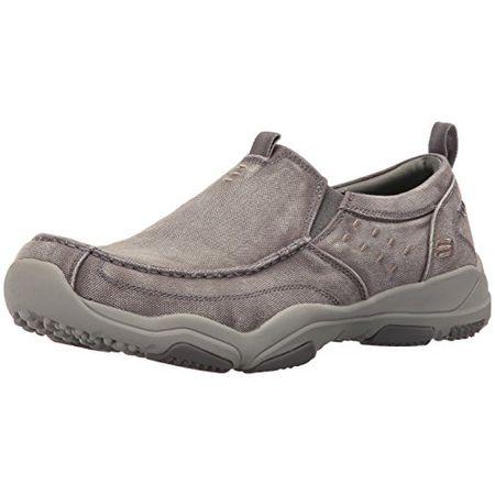 SKECHERS LARSON BOLTEN Herren Slipper Grau Schuhe in Übergrößen , Farben:Grau;Größe:43;Weite:G