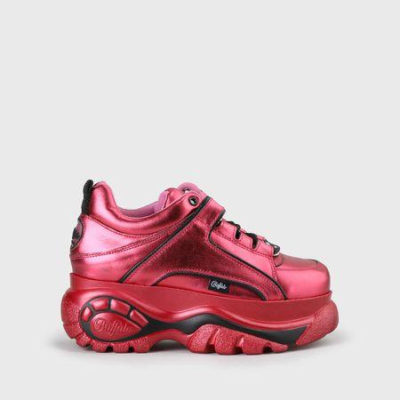 the latest 4393e d4c91 Buffalo Classic Plateau-Sneaker aus Leder Magenta
