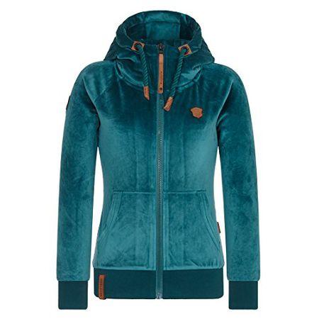 Naketano Female Zipped Jacket Every world knows it Blue Melange, M