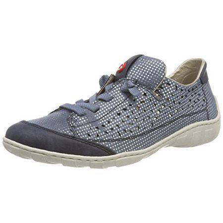 Rieker Damen M3709 Sneaker, Blau (Atlantis Bleu-Silver), 38 EU d3c10a5f41
