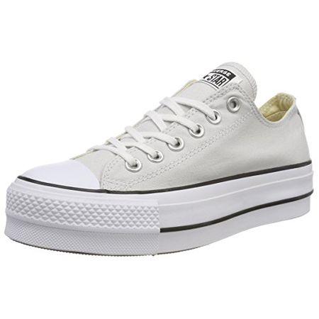 182c47b6b67eba Converse Damen CTAS Lift OX Mouse White Black Sneaker