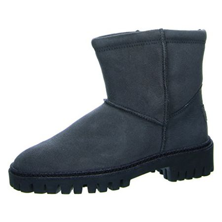 Paul Green 9197 001 Damen Boots aus Veloursleder Warmfutter