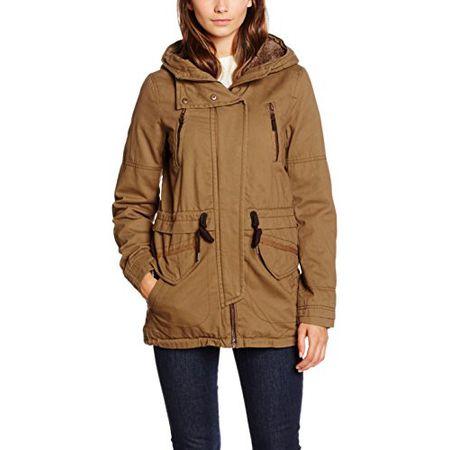 7e23c4e4b43e ONLY Damen Jacke Onlleeona Canvas Parka Jacket CC Otw, Braun (Kangaroo), 34