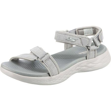 SKECHERS ON THE GO 600 RADIANT Komfort Sandalen grau Damen