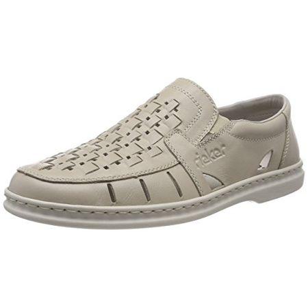 Rieker Herren 05276 Slipper, Beige (Crema60), 42 EU: Schuhe