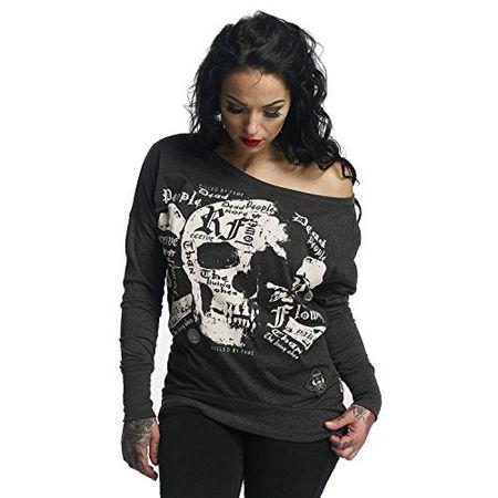 785b35c5467894 Yakuza Original Damen Skull Script Shirt Longsleeve