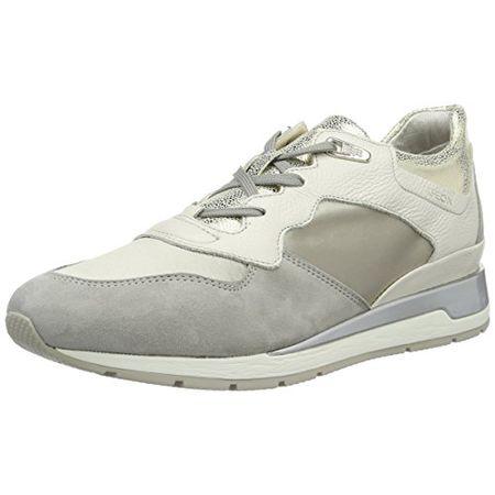 Geox Damen D Breeda B Sneaker, Braun (DK CoffeeChestnut