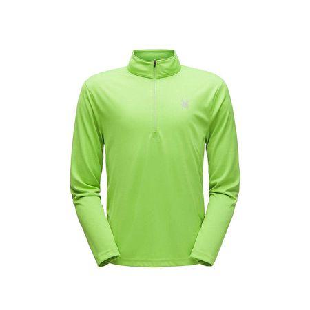 Spyder Herren Skirolli Sweatshirt Limitless Solid 1//4 Zip Dry Web T-Neck Weiss