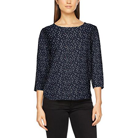 TOM TAILOR Denim Damen Bluse Printed Comfortable Tunic, Blau (True Dark Blue  01 6416 3d90c7963e