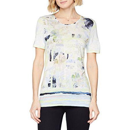 e75b8ab6e91e83 GERRY WEBER Damen Bluse T-Shirt 1/2 Arm, Mehrfarbig (Ecru/
