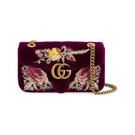 321ed3288bc09 Gucci GG Marmont Schultertasche mit Stickerei - Rosa