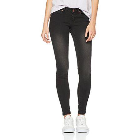 Super Slim Fit Noisy May Damen Jeans NMEVE LW SUPSLIM CLEAN BLACK