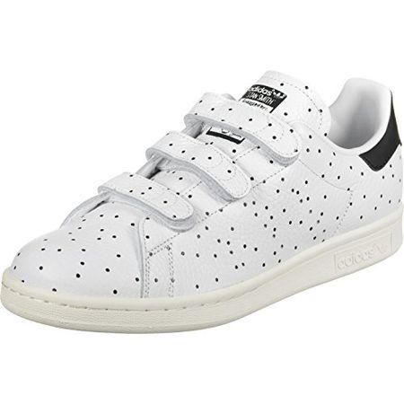 adidas Damen Stan Smith CF Sneaker Low Hals, Weiß (Core BlackCore BlackFTWR Weiß), 43 13 EU