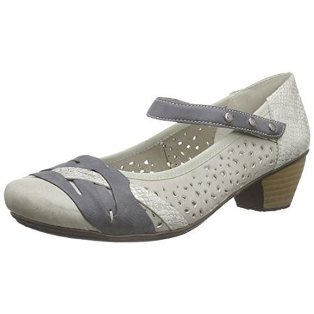 Rieker 43788 Women Closed Toe, Damen Pumps, Blau (royal14
