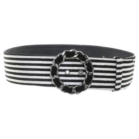 43ef1fe11c1cb Chanel Gürtel mit Streifenmuster