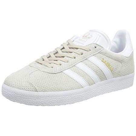 adidas Damen Gazelle Sneakers, Braun (Clear BrownFootwear WhiteGold Metallic), 40 EU