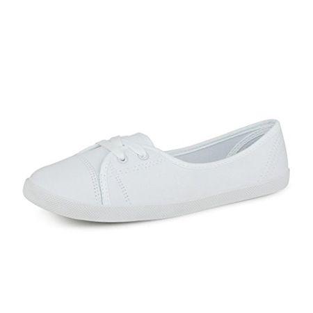 best-boots Damen Ballerinas Sneaker Schnürer Slipper Halbschuhe Sportlich  Weiß 1335 Größe 39 41908d0409