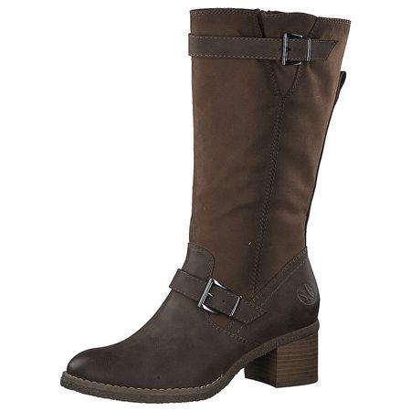 s.Oliver 5 5 26446 29 Modischer Damen Stiefel, Winterstiefel, warm gefüttert, Schlupfstiefel, Schleife hinten