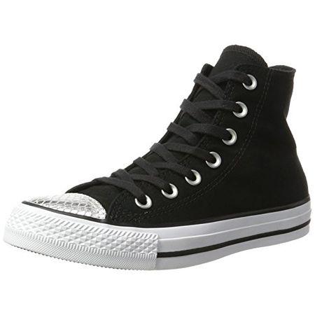 Converse Damen All Star Metallic Toecap Sneakers, Schwarz (BlackSilverBlack), 39.5 EU