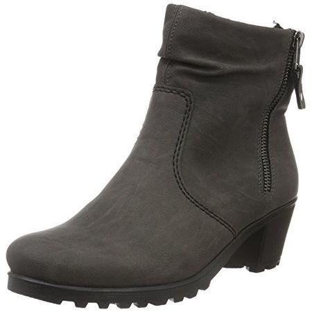 Rieker Damen Y8061 Kurzschaft Stiefel, Grau (Fumo45), 38 EU