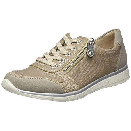 Rieker Damen N4020 Sneakers, Grau (VaporPerle SilberFango Silver40), 41 EU