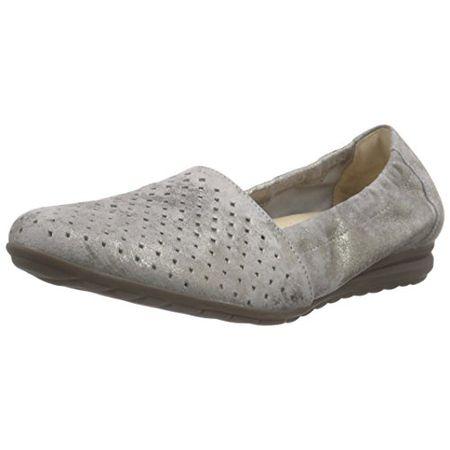 Gabor Shoes Damen Geschlossen Ballerinas Geschlossene Ballerinas, Comfort, Gr. 39 (Herstellergröße: 6), Beige (93 Taupe)