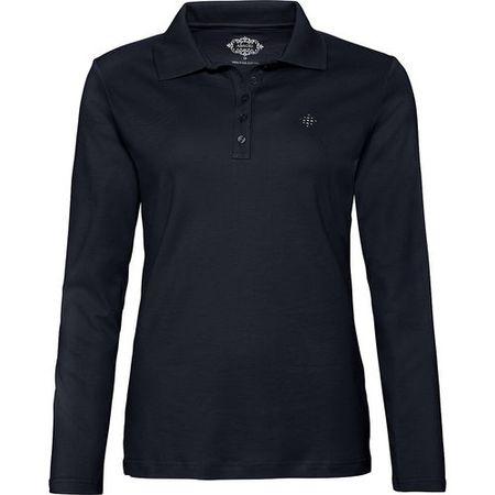 061abf644c9037 Adagio Damen Poloshirt mit Strass-Applikation