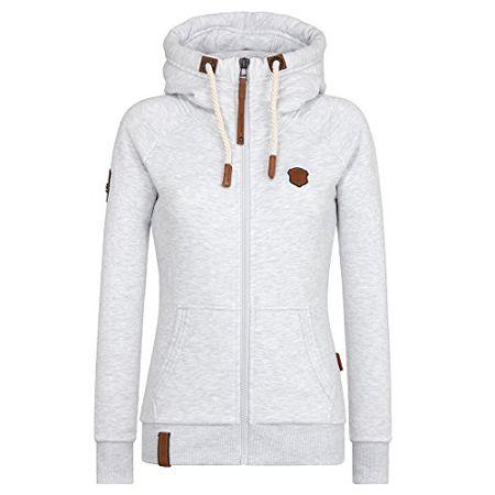 Naketano Female Zipped Jacket Jüberagend Grey Melange XL