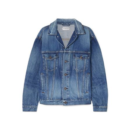 Balenciaga - Oversized-jeansjacke Mit Print - Mittelblauer Denim 8362a728de