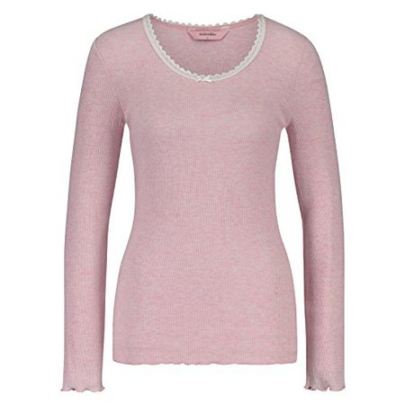 8c644333a76e76 Hunkemöller Damen Pyjamatop Longsleeve Rib Rose M119389