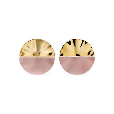 Nausheen Shah x Monica Sordo Gala Vergoldete Ohrringe Mit Beschichtung Pink