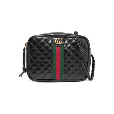 91f745ff65f3c Gucci - Mini Schultertasche Aus Gestepptem Leder - Schwarz