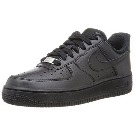 NIKE Air Force 1 Echtleder Sneaker Turnschuhe Schwarz, Größenauswahl:45