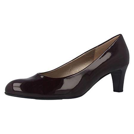 GABOR Damen Ballerinas Lack Beige Schuhe in Übergrößen Lack