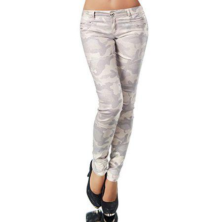 N445 Damen Jeans Hose Lederimitat Damenjeans Lederlook