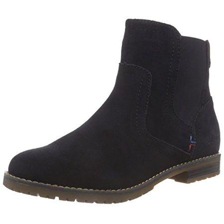 premium selection 2c7b0 36418 TOM TAILOR Damenschuhe, Damen Chelsea Boots, Blau (Navy), 41 EU