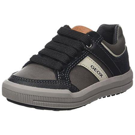 Geox Jungen J Arzach Boy I Sneaker, Grau (Dk GreyBlack), 36 EU