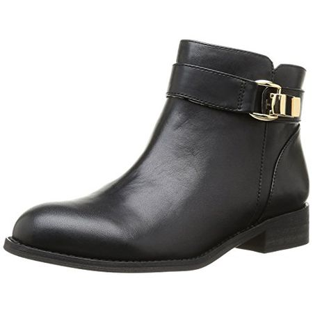 Buffalo London 413 6923 SILK LEATHER, Damen Kurzschaft Stiefel, Schwarz (BLACK851), 39 EU