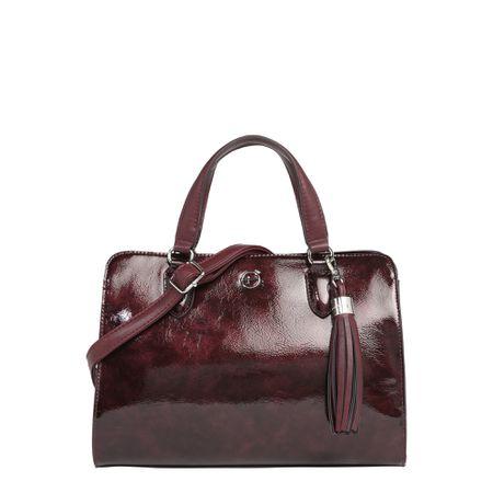 Tamaris Damen Handtasche Khema Shoulder Bag mauve comb (grau