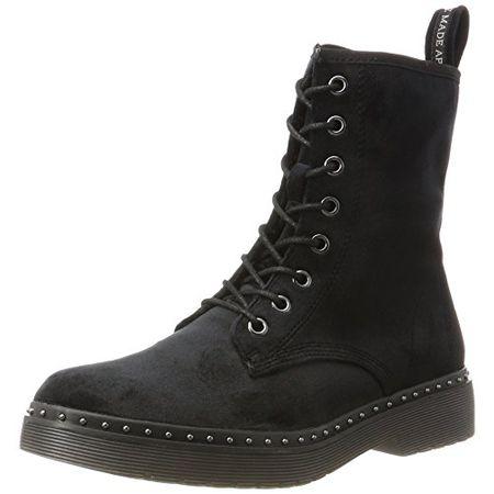 Tamaris Damen 25718 Combat Boots, Schwarz (Black Velvet), 37 EU