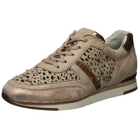 online store 4c1fc 7e289 Gabor Shoes Damen Fashion Sneaker, Beige (Rame/Skin (Strass) 64), 38 EU